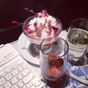 """Karma Sundae"" - aptly named due to my kind gesture and First Class upgrade"