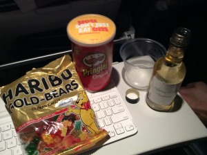 Plane snack courtesy of the beneficiaries of my seat...