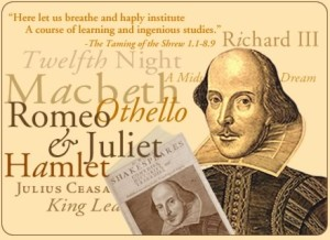Shakespeare wrote many of his most famous plays in a five year period.