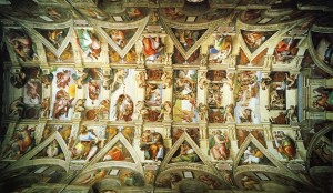 Sistine Chapel ceiling - Michelangelo (painted in just under five years)