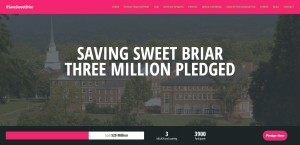 Saving Sweet Briar has raised over $3M since the Board announced its intention to close the College.