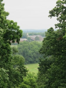 View of campus from Monument Hill