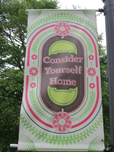 """Consider Yourself Home"" - this sums up what Sweet Briar means to me (one of the banners lining the driveway to campus)"