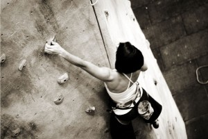 """Sometimes you have to put on some pink and green and crush it! Rise Up Climbing will changing their colors from black and red to host a pink and green climb night."" (Raleigh Durham Club)"