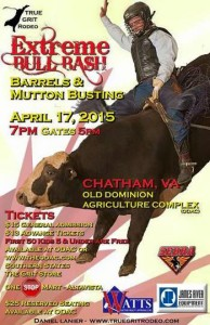 Bull riding?  This alumna offers a 50:50 raffle at her husband's bull riding competition!