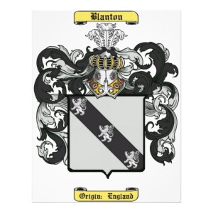 Blanton family crest of my paternal relatives who lived, worked and are buried in Amherst, Virginia.