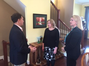 Jeff Goldberg of WJLA ABC7 (DC) interviews Christine Bump and Stacey Sickels Locke