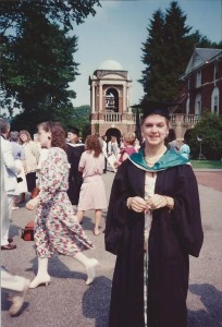Stacey Sickels Locke, Class of 1988, graduation day.