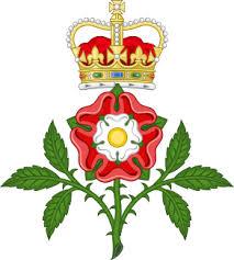 Heraldic tudor rose.