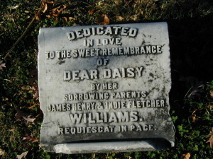 Marker for Daisy Williams, in whose memory Sweet Briar College was founded as a PERPETUAL memorial.
