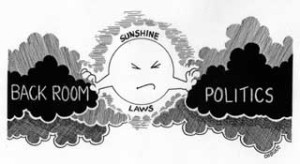 Sunshine Laws call for openness.  Whether mandated by law or best practice, these practices make for good decision making and leadership.
