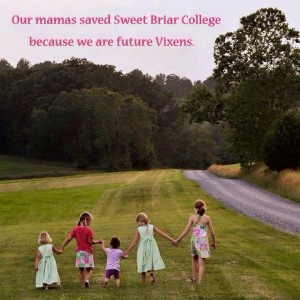 Photo captured of some of the Sweet Briar daughters (credit: Jennifer Phelps Stanton).