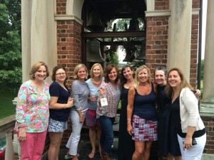 Alumnae gather after the successful settlement was announced. (Photo: WSET)
