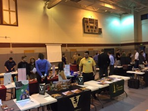 College fairs are a sea of tables each with similar smiling faces - yet each offers a unique experience.