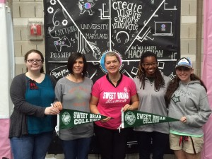 Sweet Briar College students arrive at their first Major League hackathon.