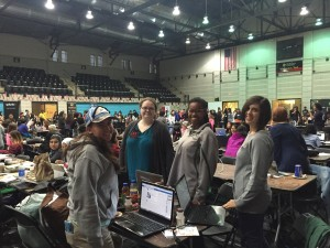 "Sweet Briar College students attend their first Hackathon, ""Technica"" at the University of Maryland."
