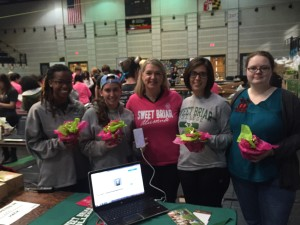 Sweet Briar College hackathon team.